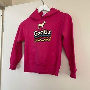 Girls Pink Goats Hooded Sweatshirt